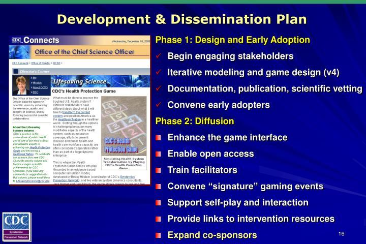 Development & Dissemination Plan