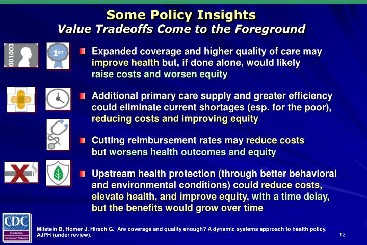 Some Policy Insights