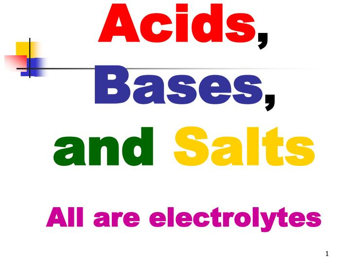 acids bases and salts all are electrolytes n.