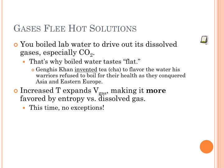Gases Flee Hot Solutions