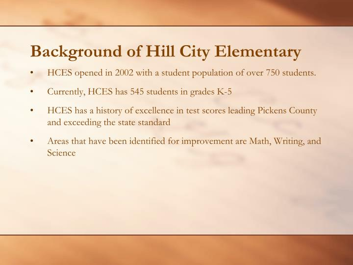 Background of hill city elementary