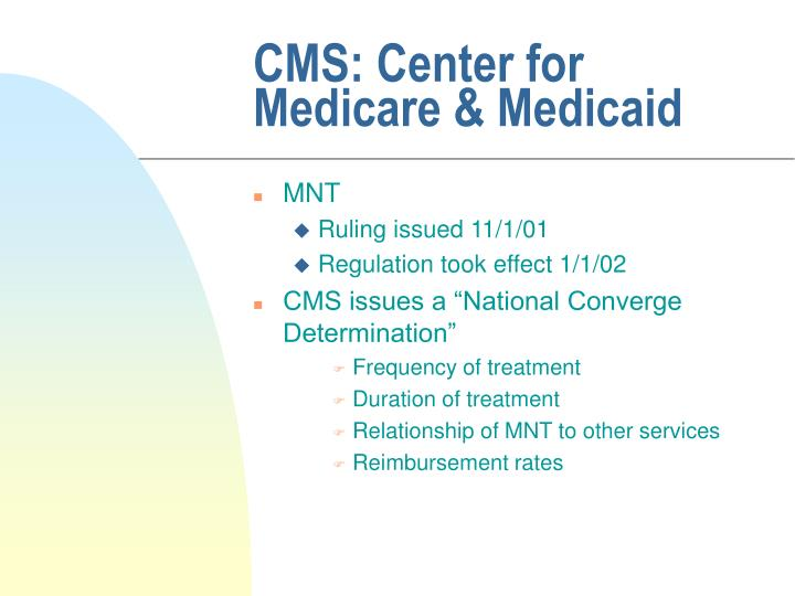 CMS: Center for Medicare & Medicaid