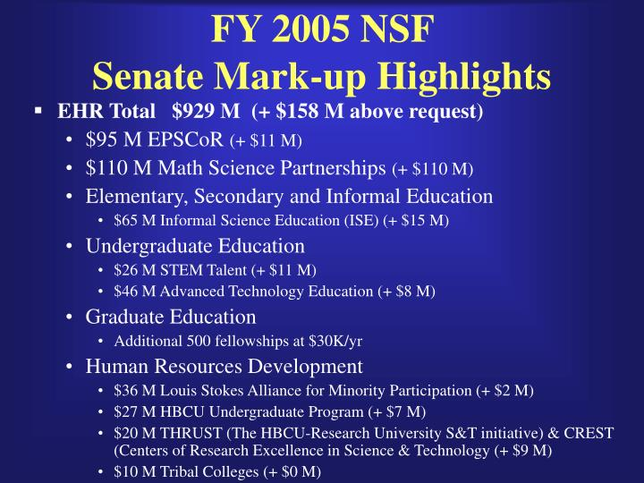 FY 2005 NSF