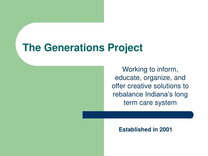 the generations project n.