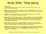study skills note taking2