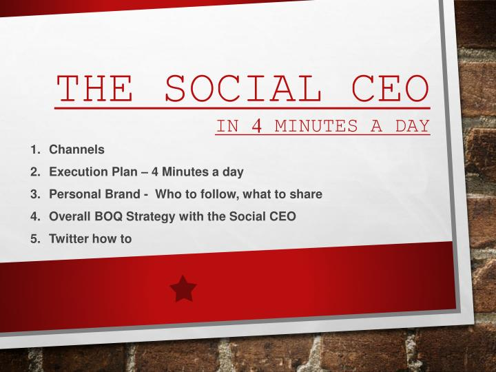 the social ceo in 4 minutes a day n.
