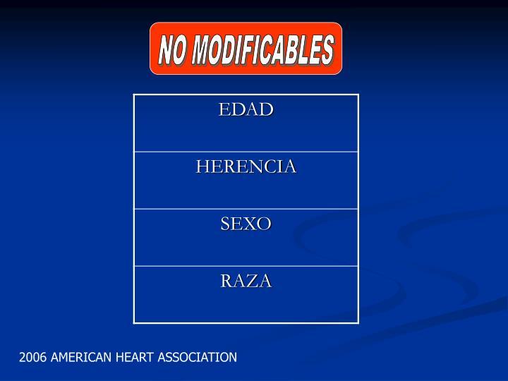 NO MODIFICABLES