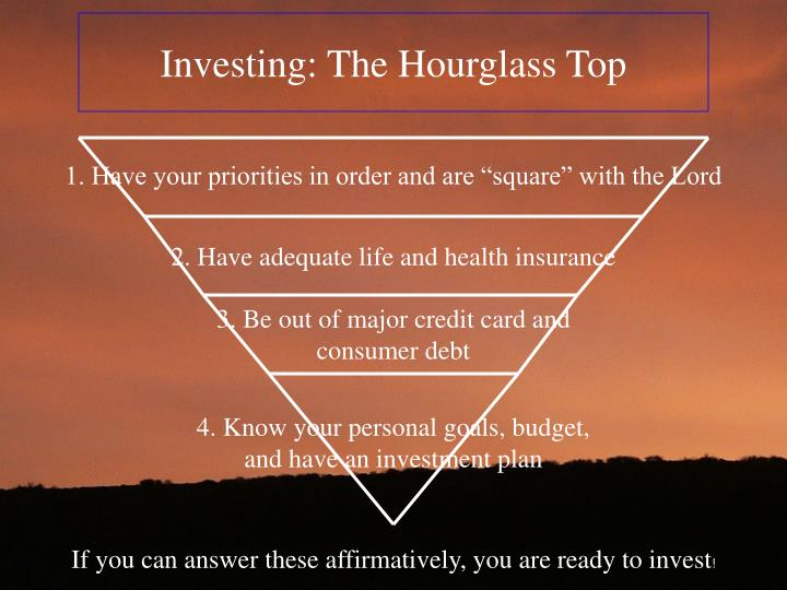 Investing: The Hourglass Top