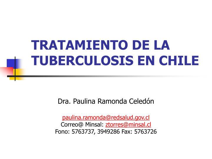 tratamiento de la tuberculosis en chile n.