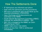 how the settlements done