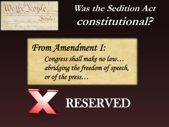 Was the Sedition Act