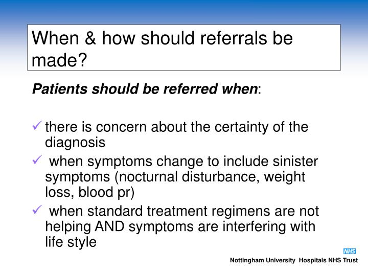 When & how should referrals be made?