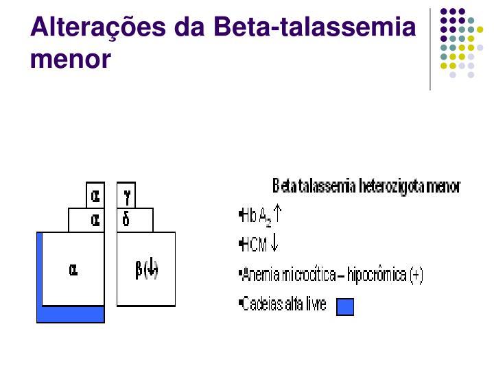 Alterações da Beta-talassemia menor
