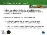 conclusions farm level control