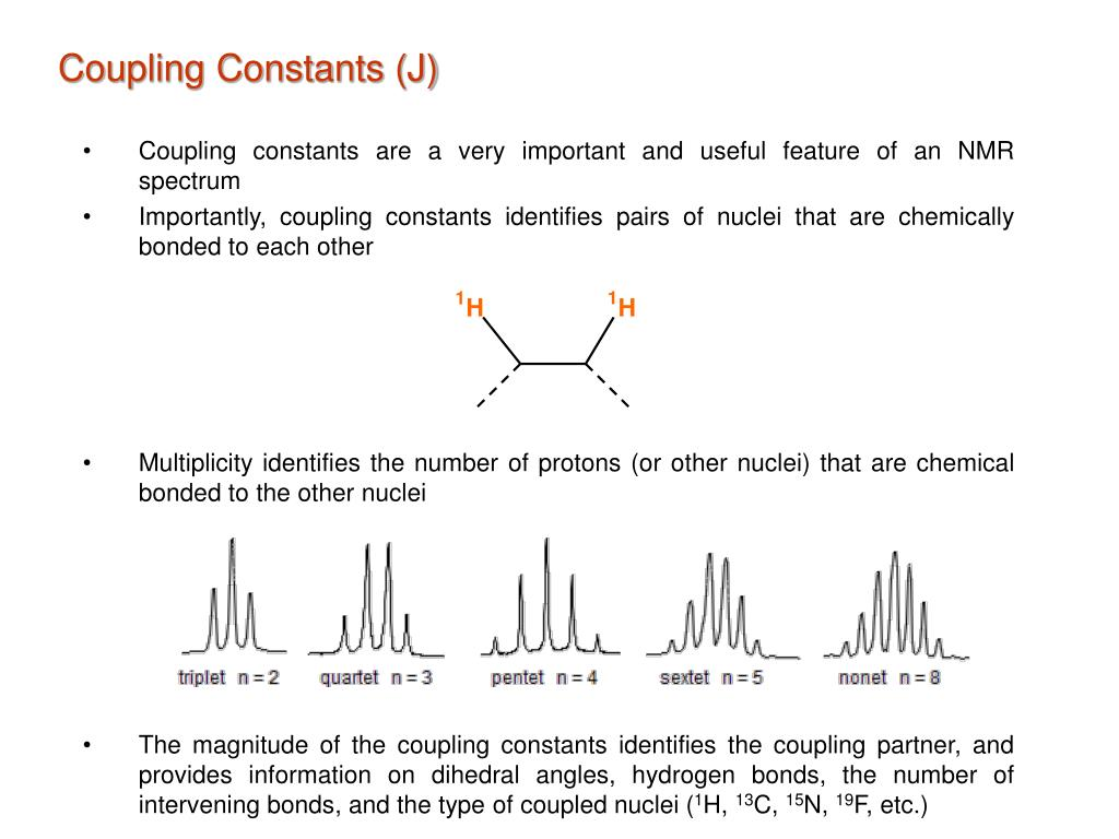 Ppt Coupling Constants J Powerpoint Presentation Free