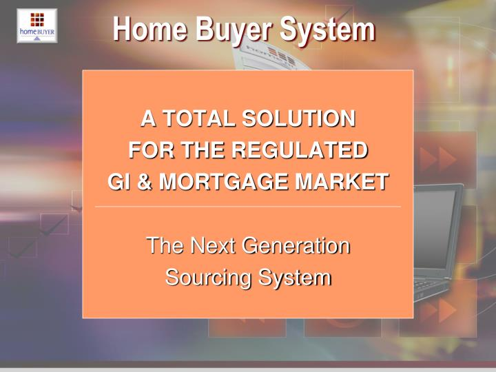 Home Buyer System