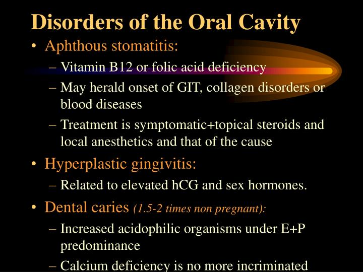Disorders of the Oral Cavity