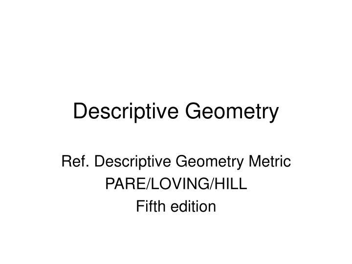 descriptive geometry n.