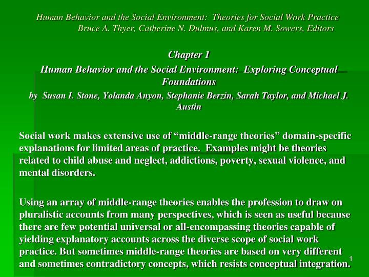 Ppt Chapter 1 Human Behavior And The Social Environment Exploring