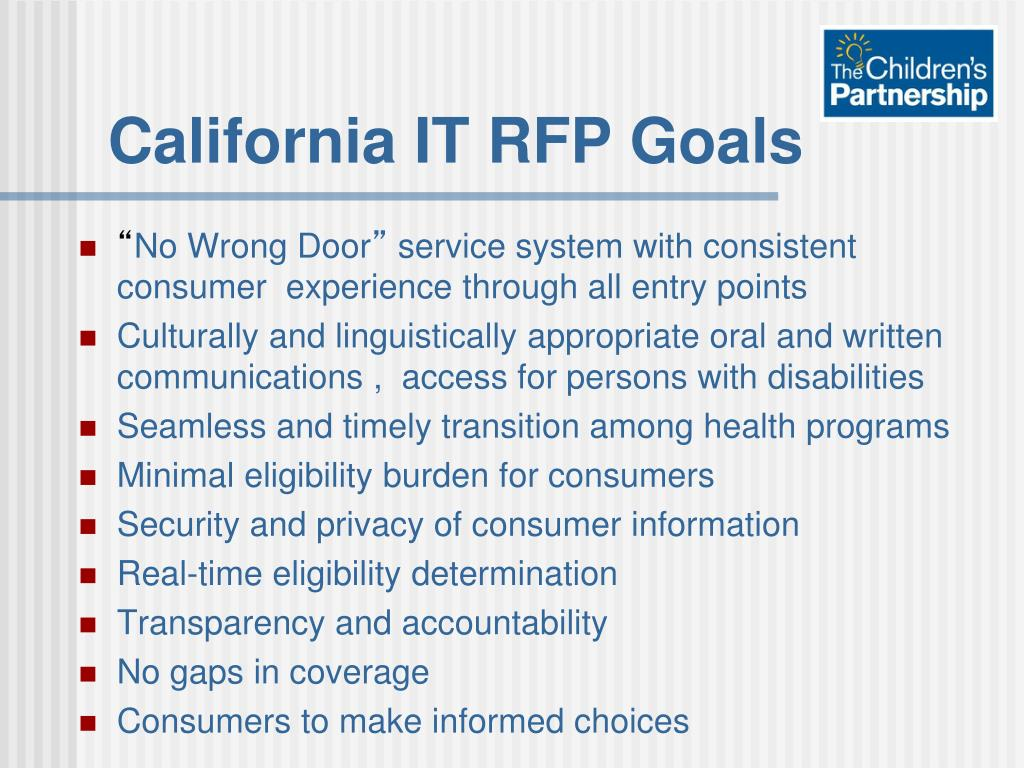 PPT - California ' s Experience: Designing a Streamlined User
