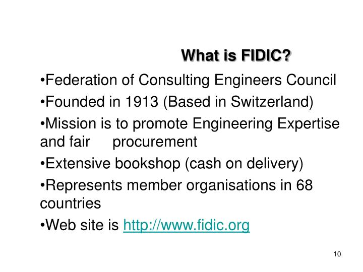 What is FIDIC?