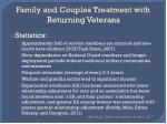 family and couples treatment with returning veterans