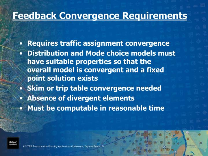 Feedback convergence requirements