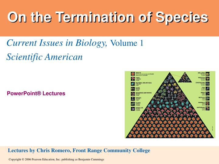 on the termination of species n.