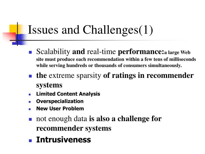 Issues and Challenges(1)