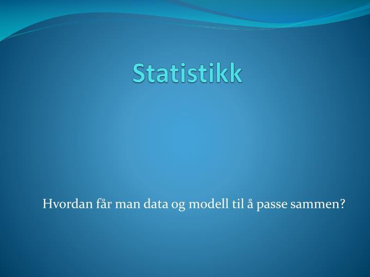 statistikk n.