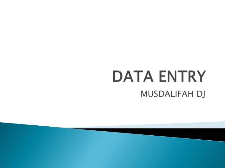 data entry n.