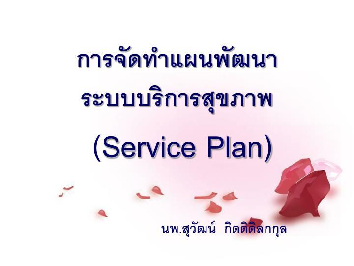 service plan n.