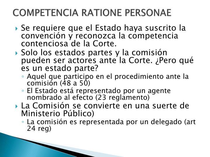Competencia ratione personae