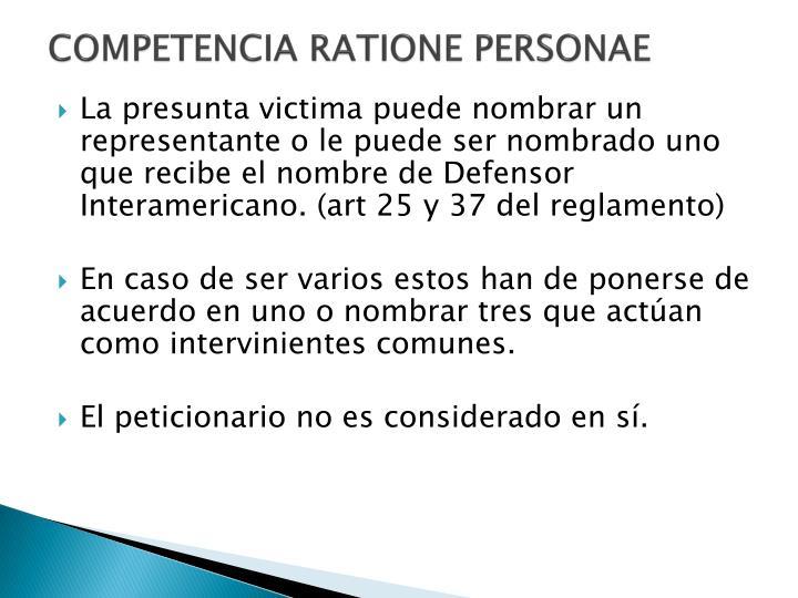 Competencia ratione personae1