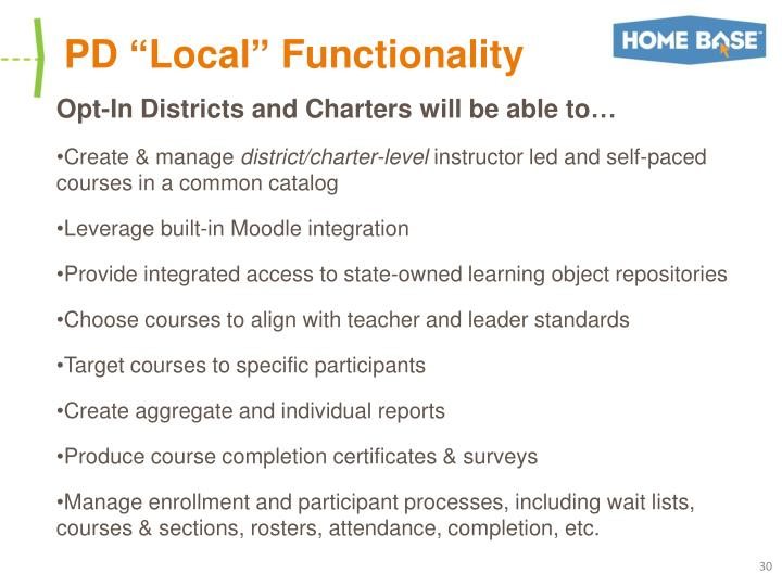 """PD """"Local"""" Functionality"""