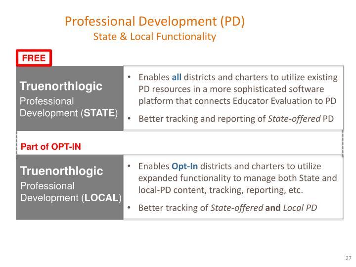 Professional Development (PD)
