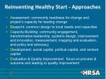 reinventing healthy start approaches