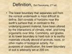 definition soil taxonomy 2 nd ed