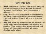 feel that soil