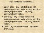felt textures continued