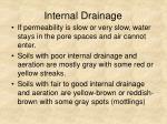 internal drainage