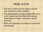 water and air