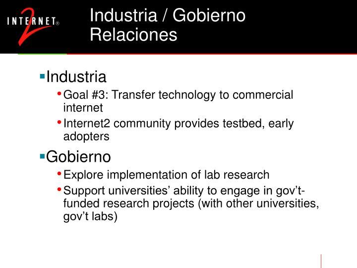 Industria / Gobierno