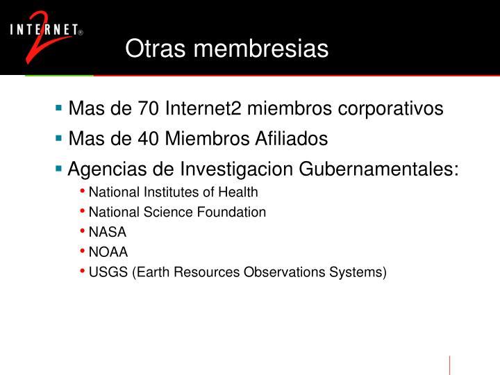 Otras membresias