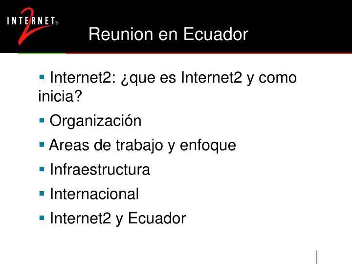 Reunion en ecuador