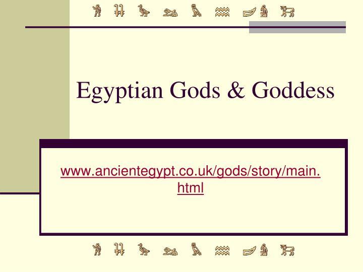 Egyptian gods goddess
