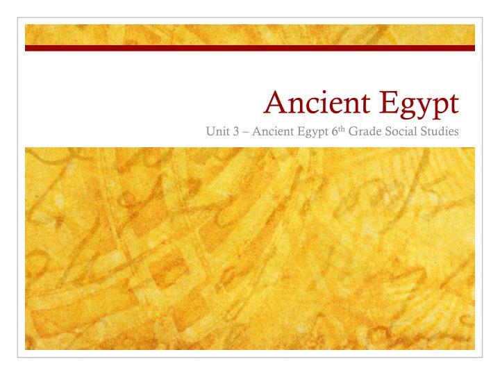 ancient egypt n.