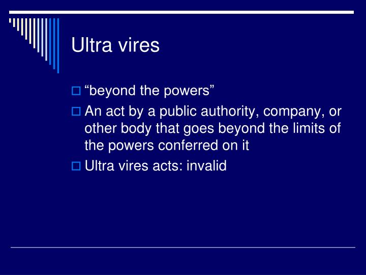 ultra vires act