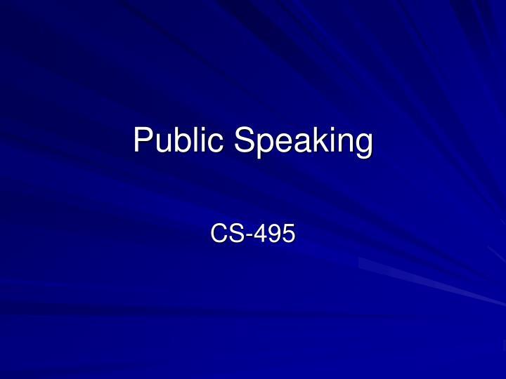 public speaking n.