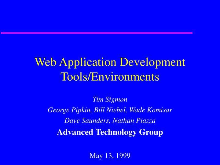 web application development tools environments n.
